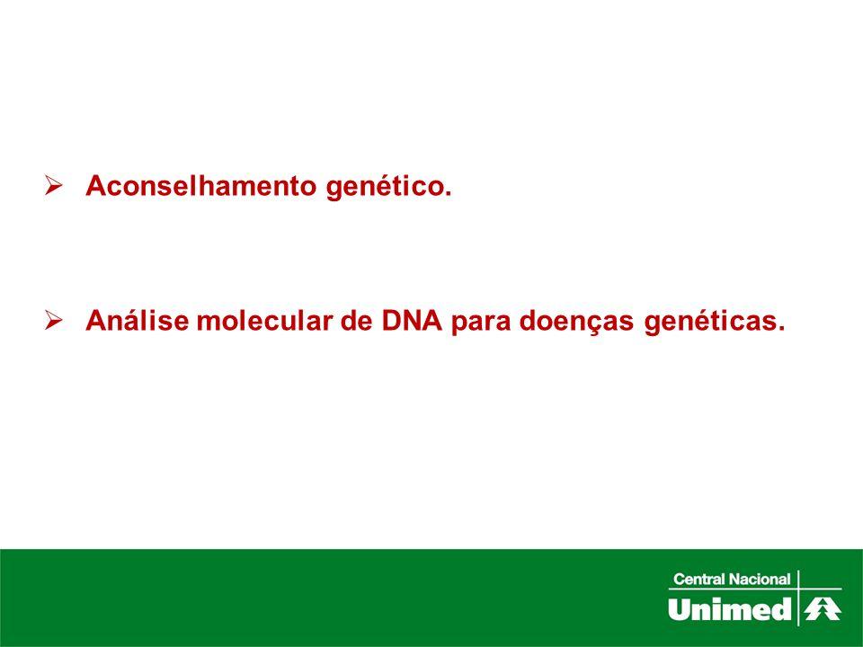 Aconselhamento genético.