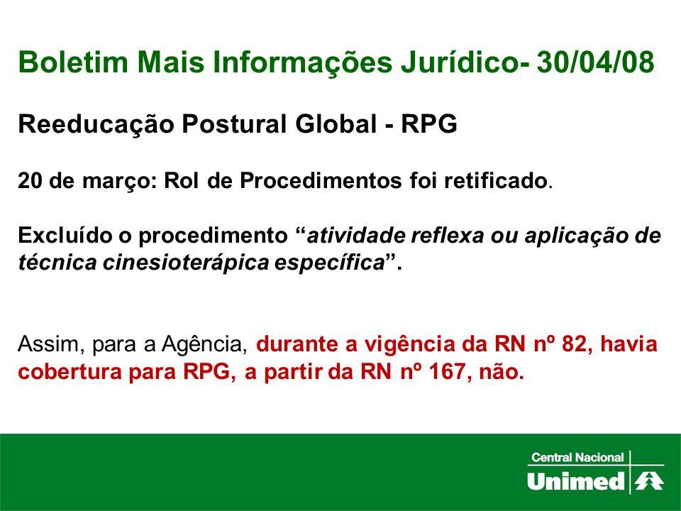 Boletim Mais Informações Jurídico- 30/04/08