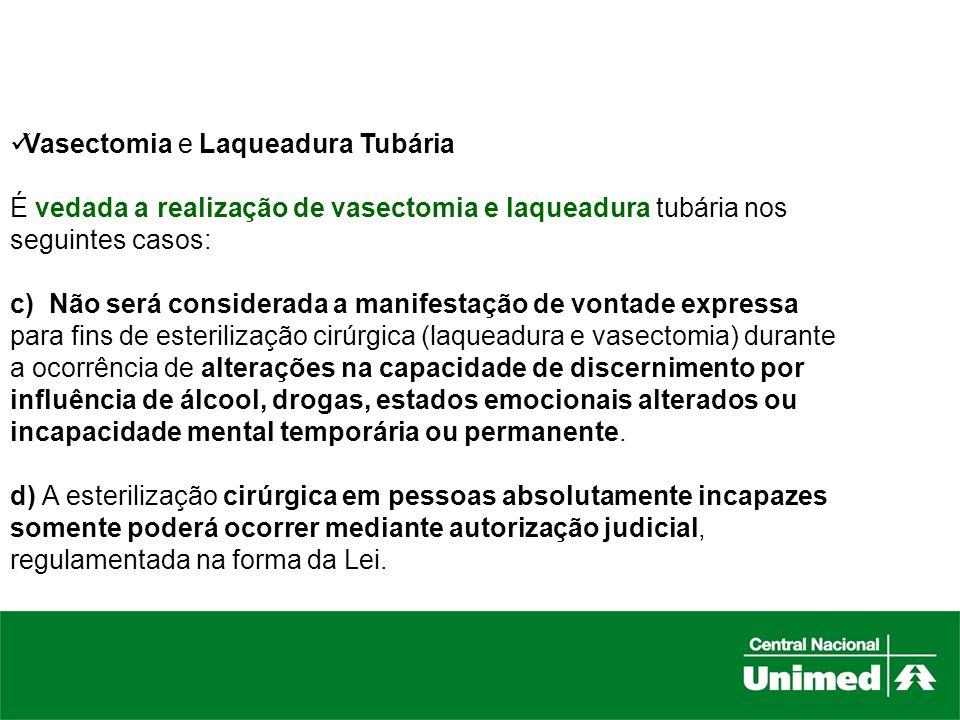 Vasectomia e Laqueadura Tubária