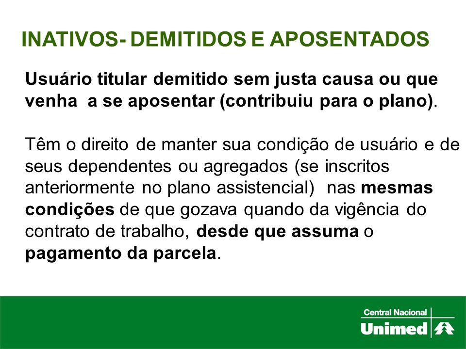 INATIVOS- DEMITIDOS E APOSENTADOS