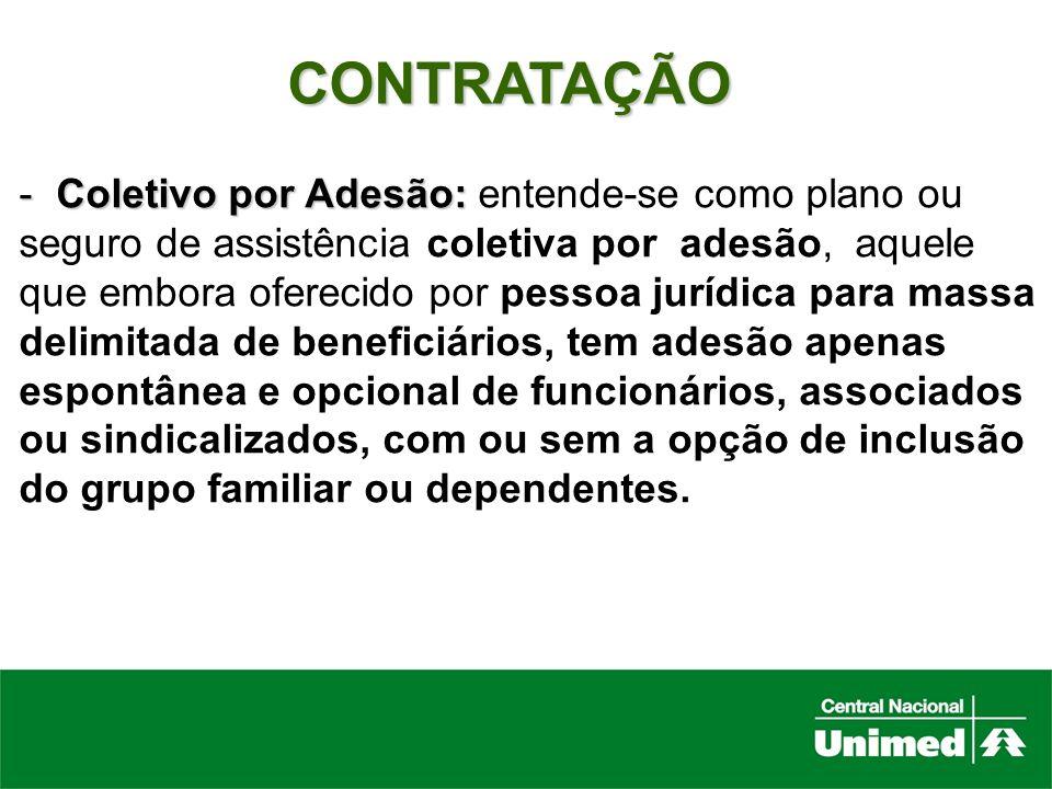 CONTRATAÇÃO Coletivo por Adesão: entende-se como plano ou