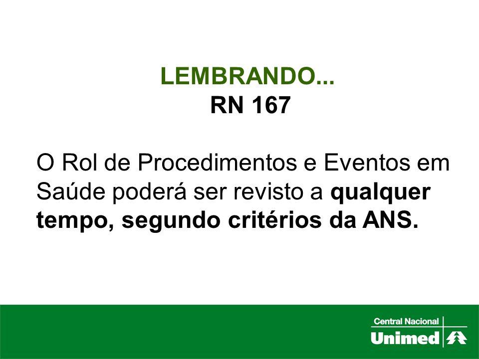 LEMBRANDO...RN 167.
