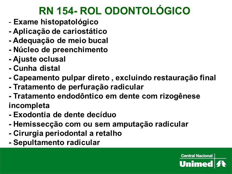 RN 154- ROL ODONTOLÓGICO