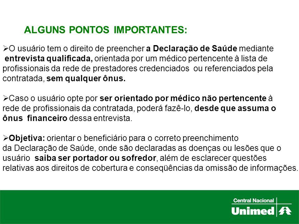 ALGUNS PONTOS IMPORTANTES: