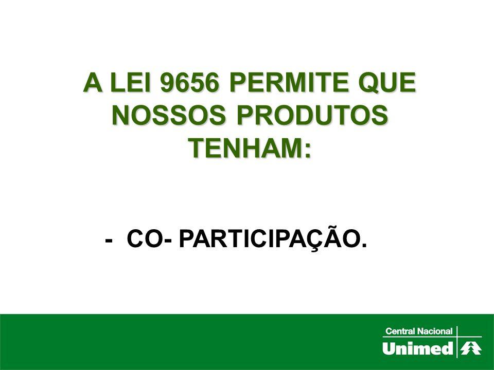 A LEI 9656 PERMITE QUE NOSSOS PRODUTOS TENHAM: