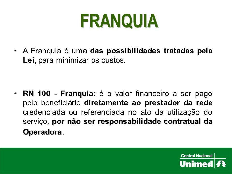 FRANQUIA A Franquia é uma das possibilidades tratadas pela Lei, para minimizar os custos.