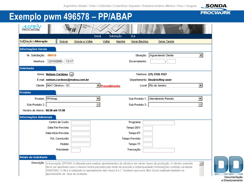 Exemplo pwm 496578 – PP/ABAP