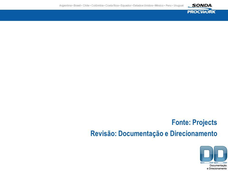 Fonte: Projects Revisão: Documentação e Direcionamento