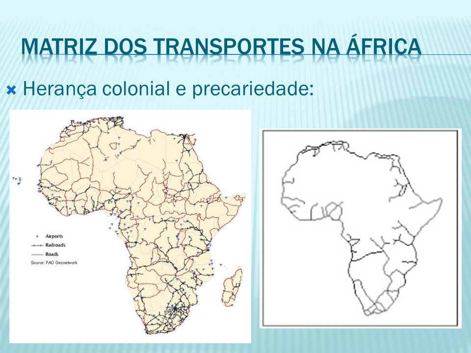 Matriz dos transportes na áfrica