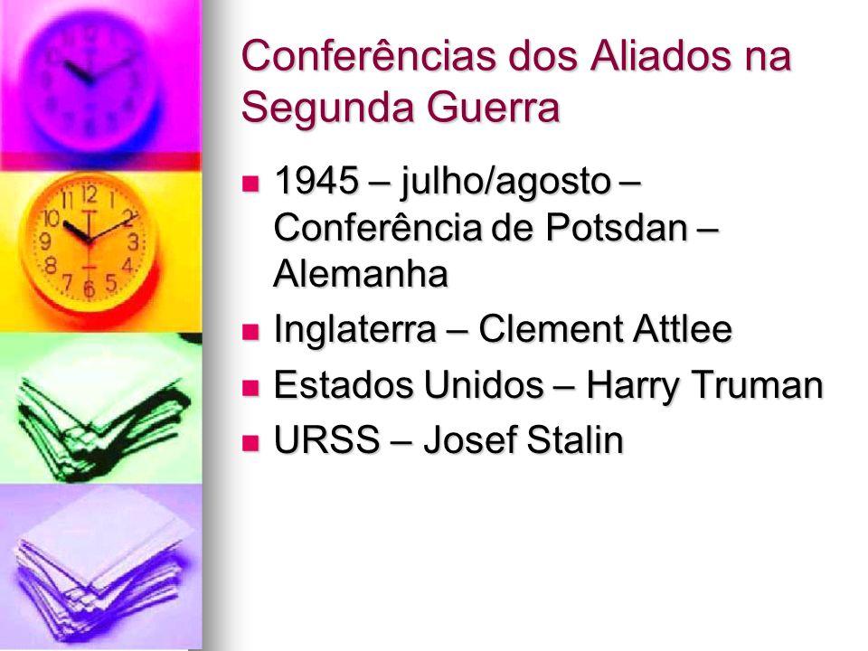 Conferências dos Aliados na Segunda Guerra