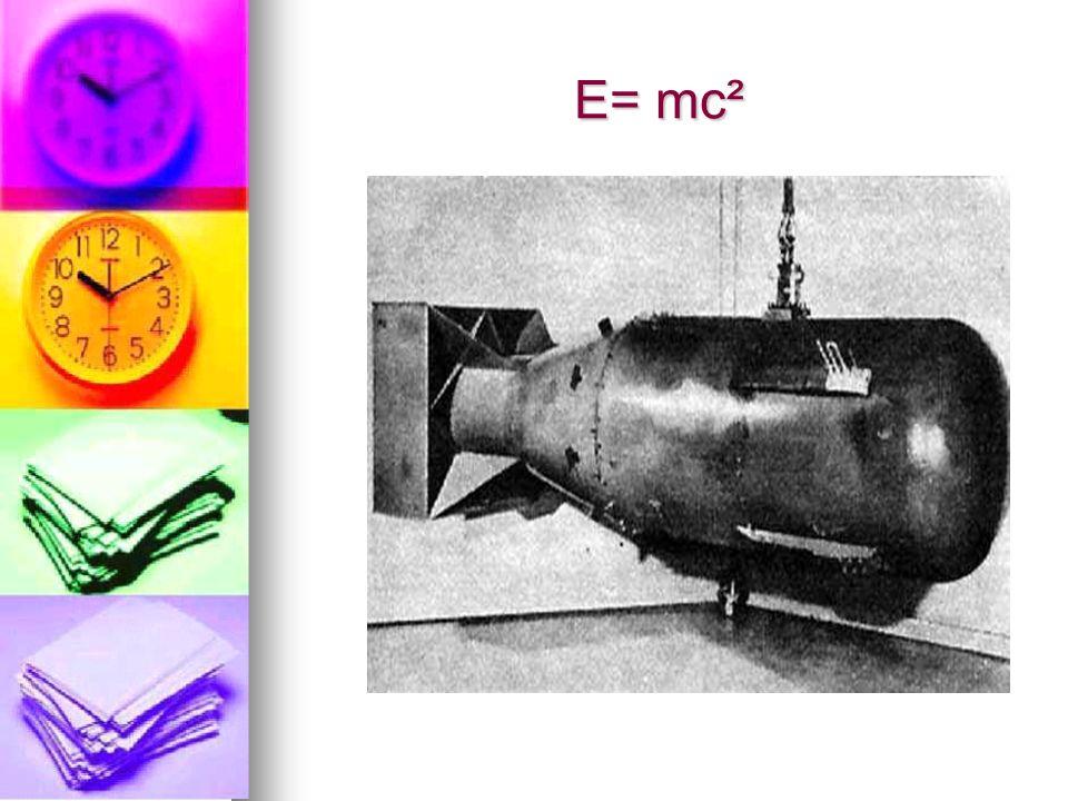 E= mc²