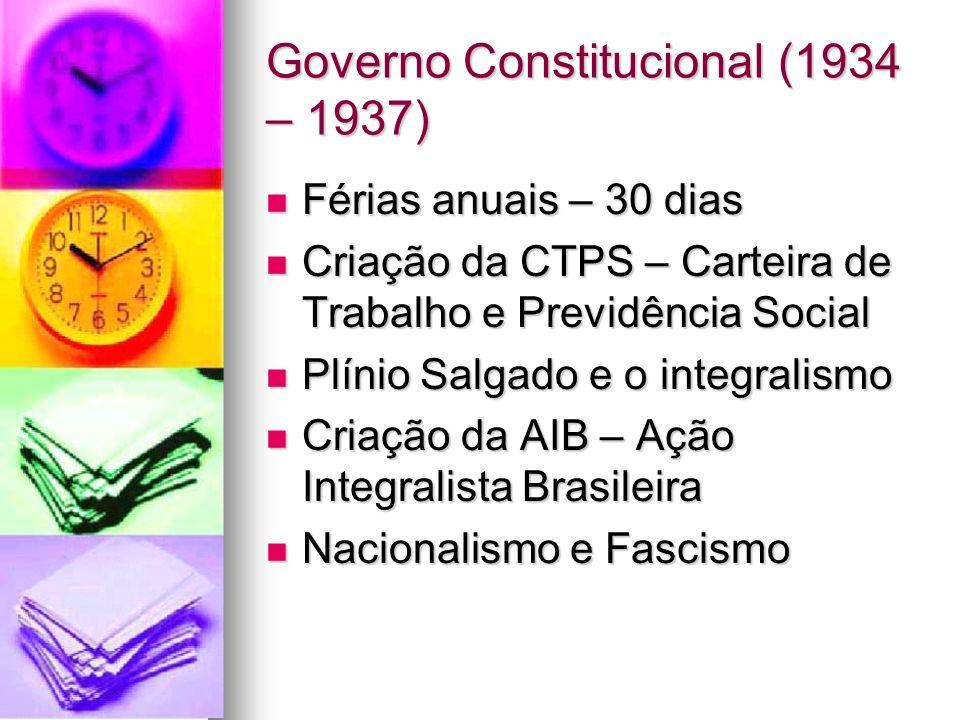 Governo Constitucional (1934 – 1937)