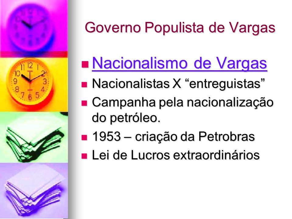 Governo Populista de Vargas