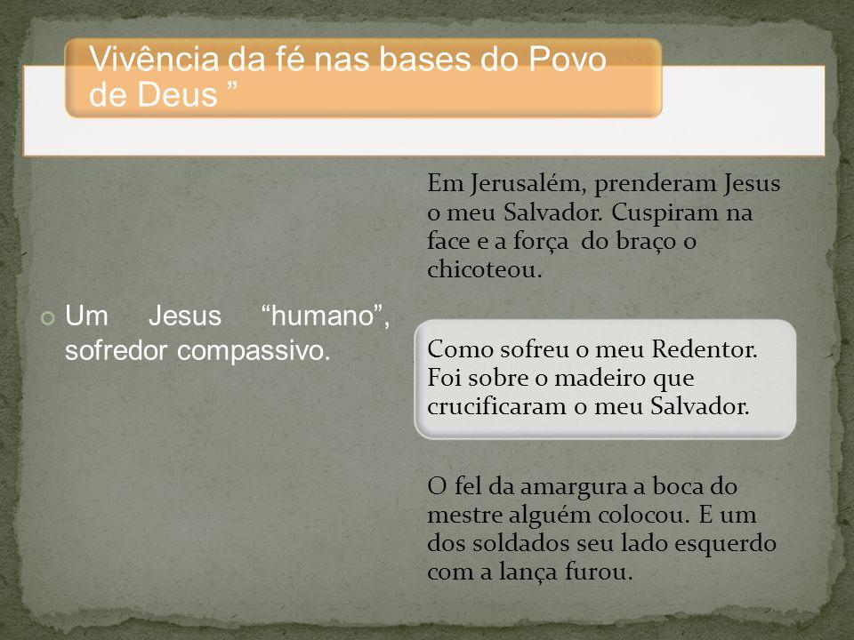 Um Jesus humano , sofredor compassivo.
