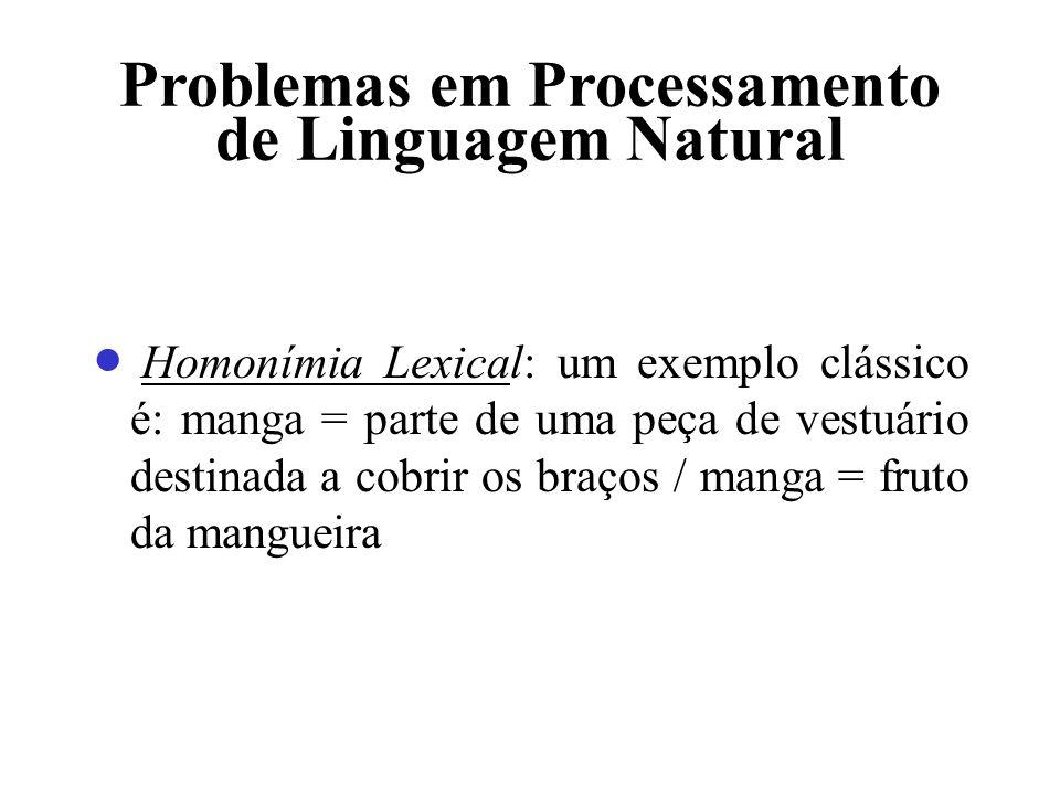 Problemas em Processamento de Linguagem Natural