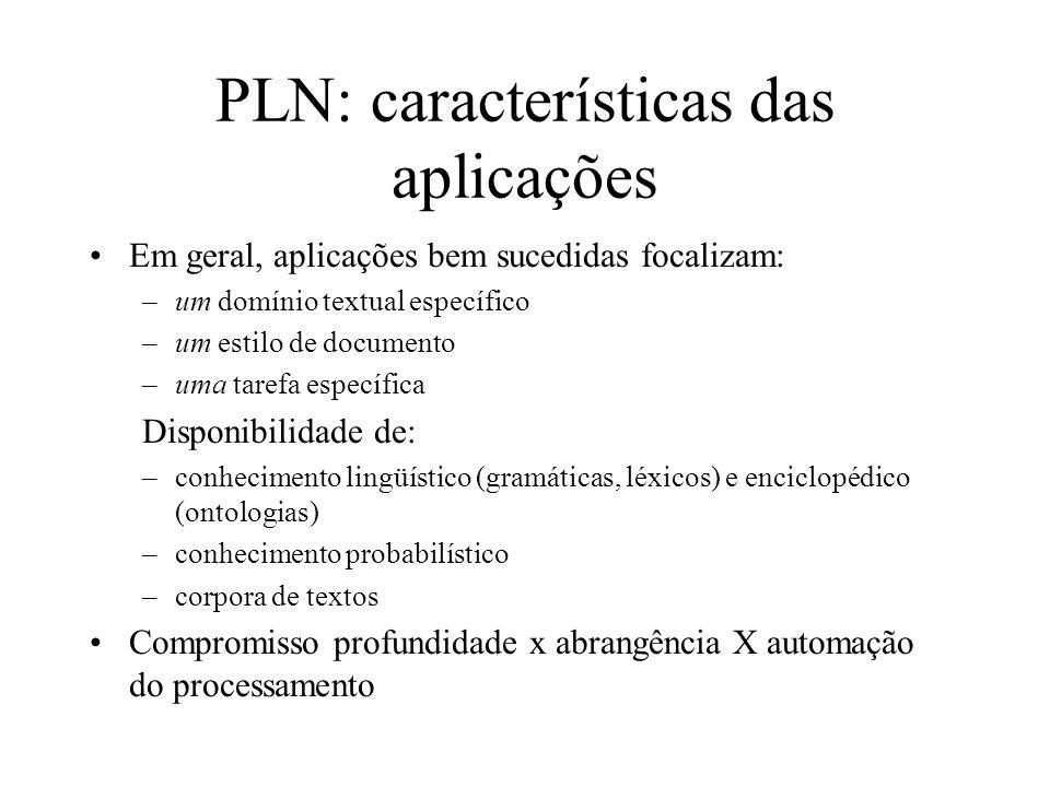 PLN: características das aplicações
