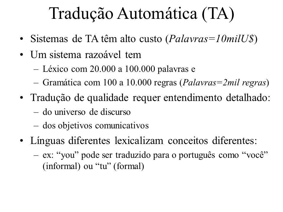 Tradução Automática (TA)