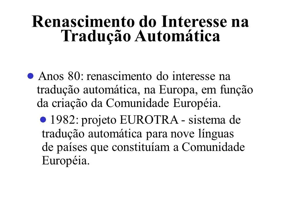 Renascimento do Interesse na Tradução Automática