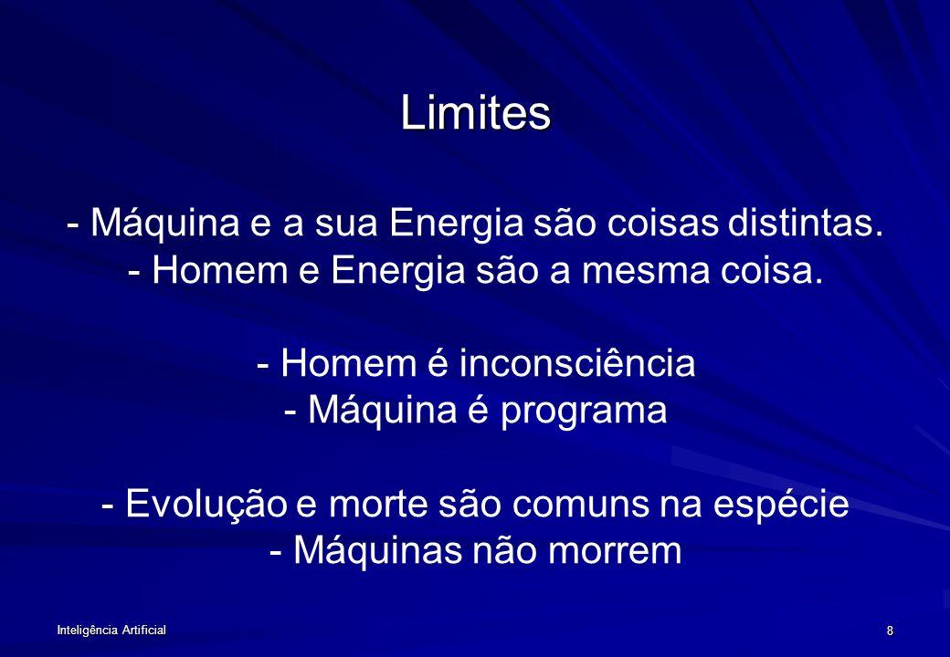Limites - Máquina e a sua Energia são coisas distintas