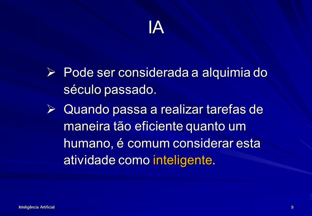 IA Pode ser considerada a alquimia do século passado.