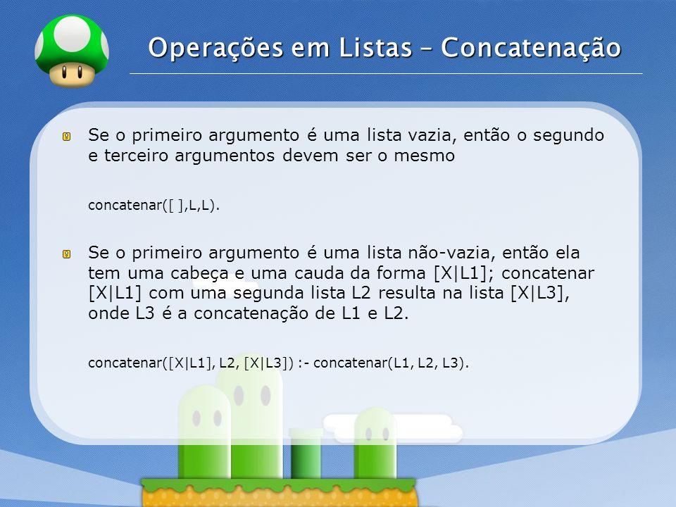 Operações em Listas – Concatenação