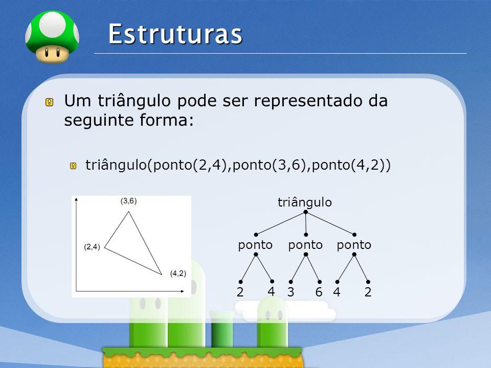 Estruturas Um triângulo pode ser representado da seguinte forma: