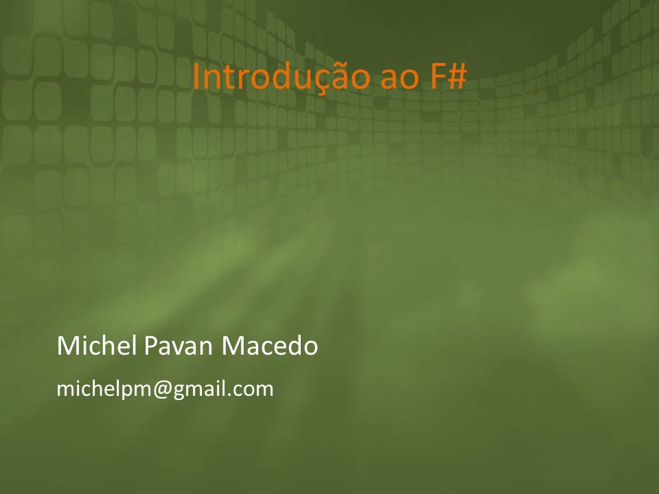Michel Pavan Macedo michelpm@gmail.com