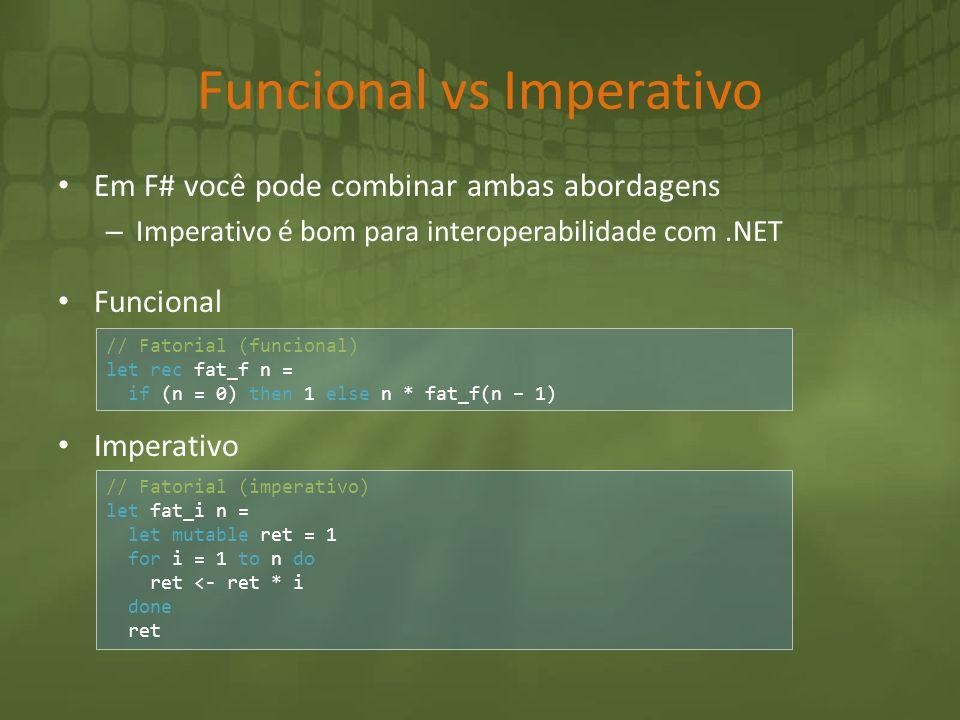 Funcional vs Imperativo