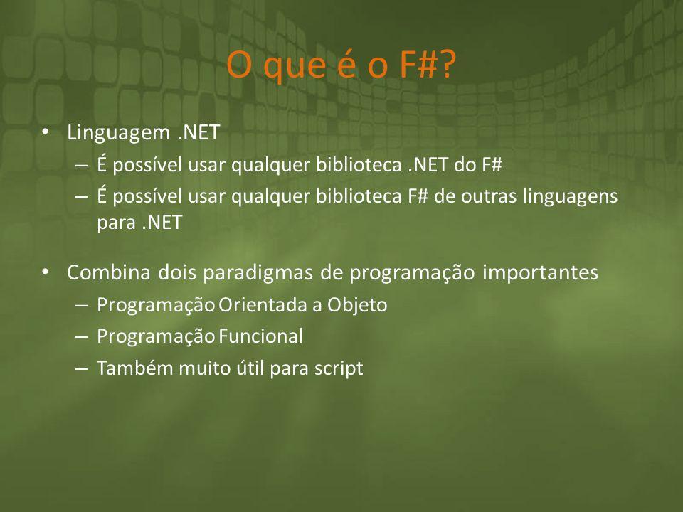 O que é o F# Linguagem .NET