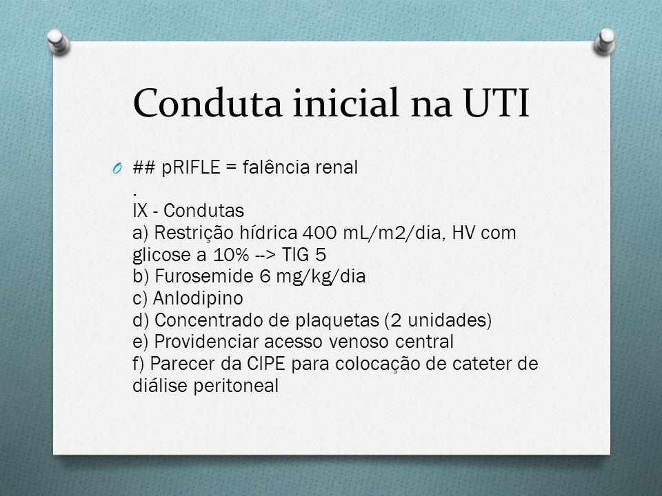 Conduta inicial na UTI