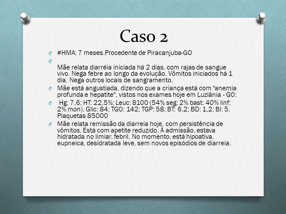Caso 2 #HMA: 7 meses.Procedente de Piracanjuba-GO