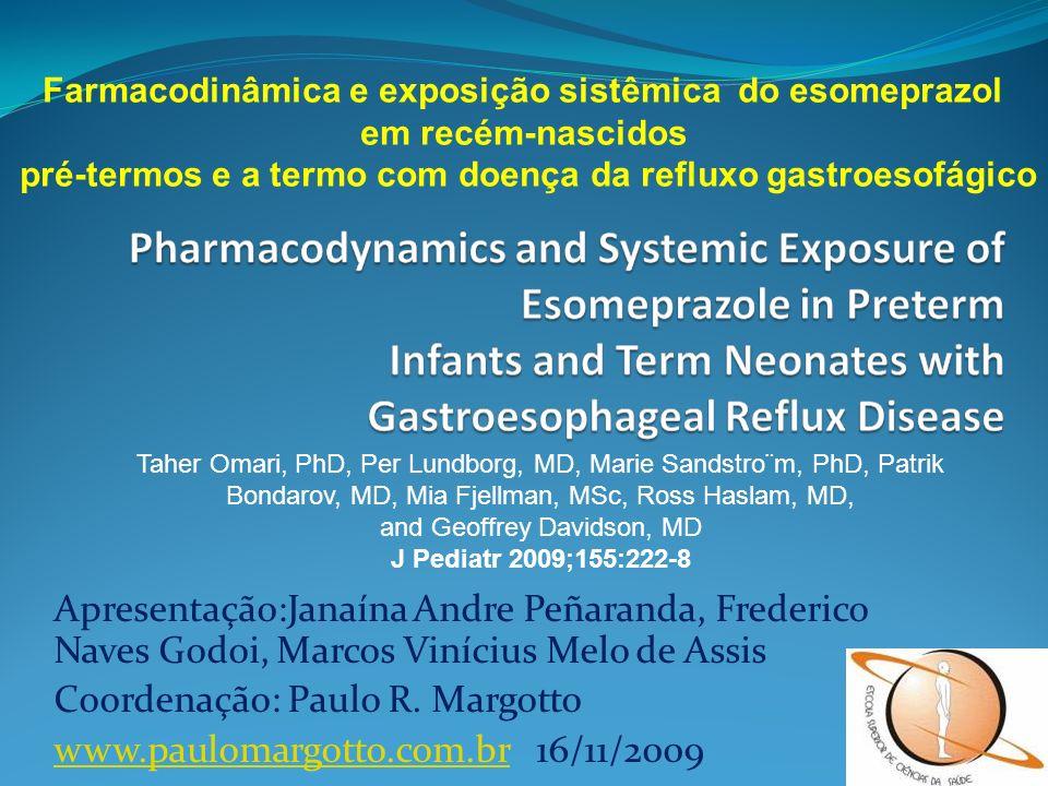 Coordenação: Paulo R. Margotto www.paulomargotto.com.br 16/11/2009