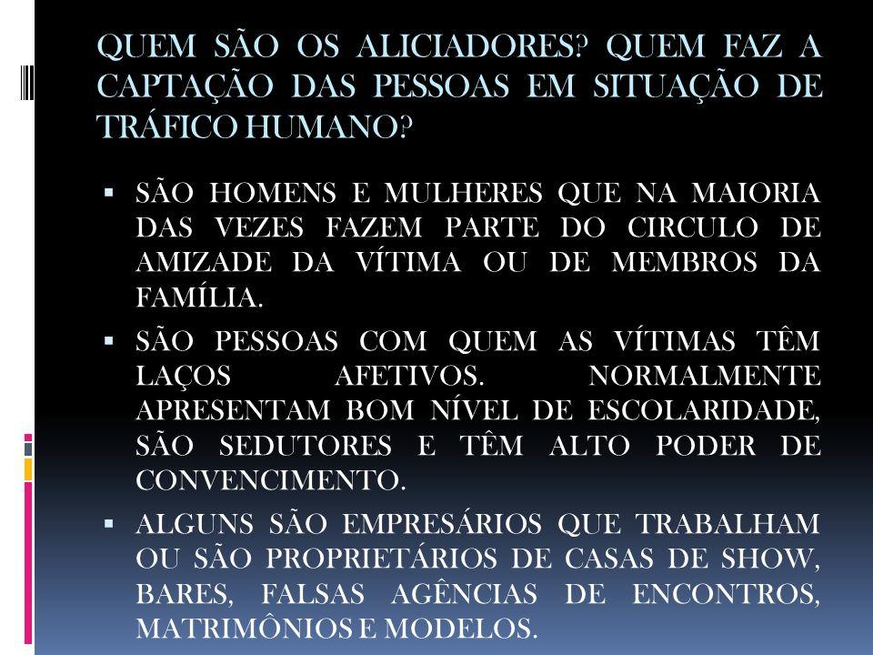 QUEM SÃO OS ALICIADORES