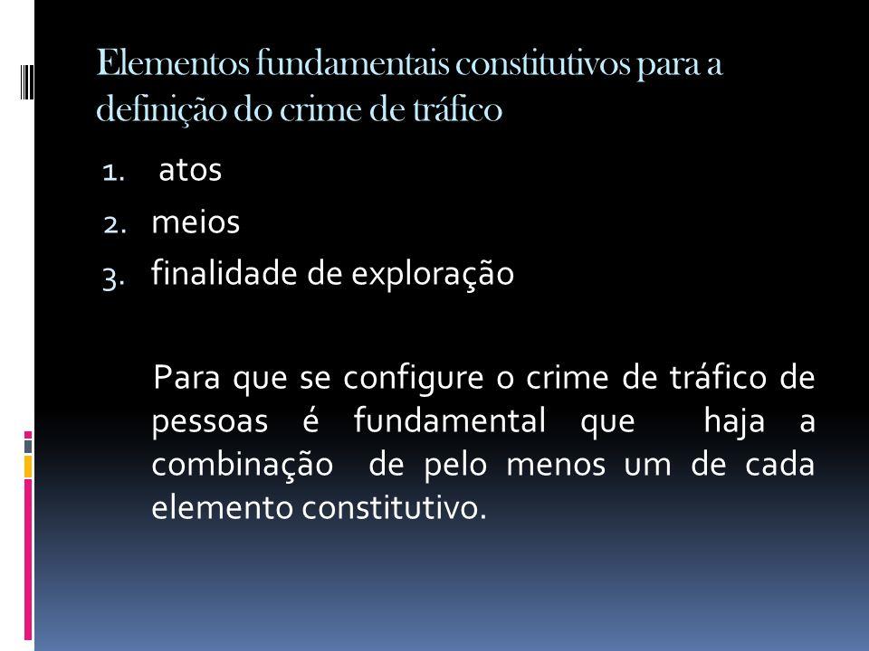 Elementos fundamentais constitutivos para a definição do crime de tráfico