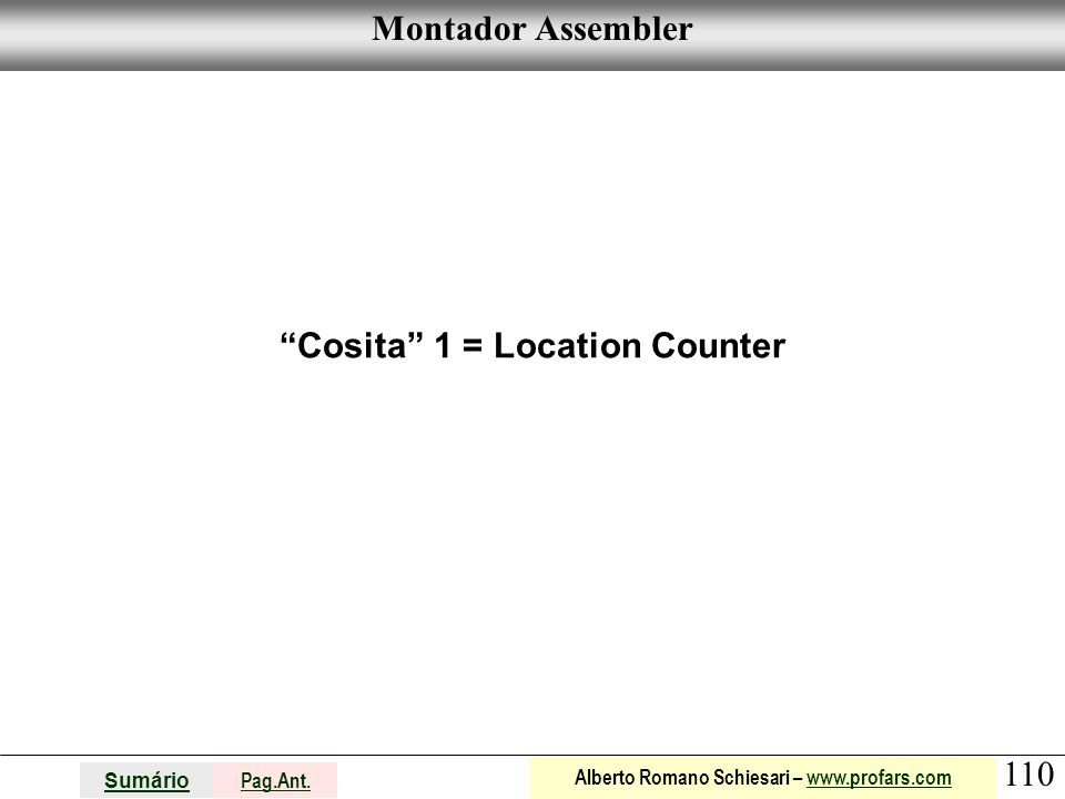 Cosita 1 = Location Counter