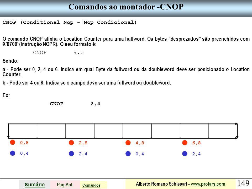 Comandos ao montador -CNOP