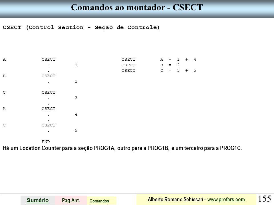 Comandos ao montador - CSECT
