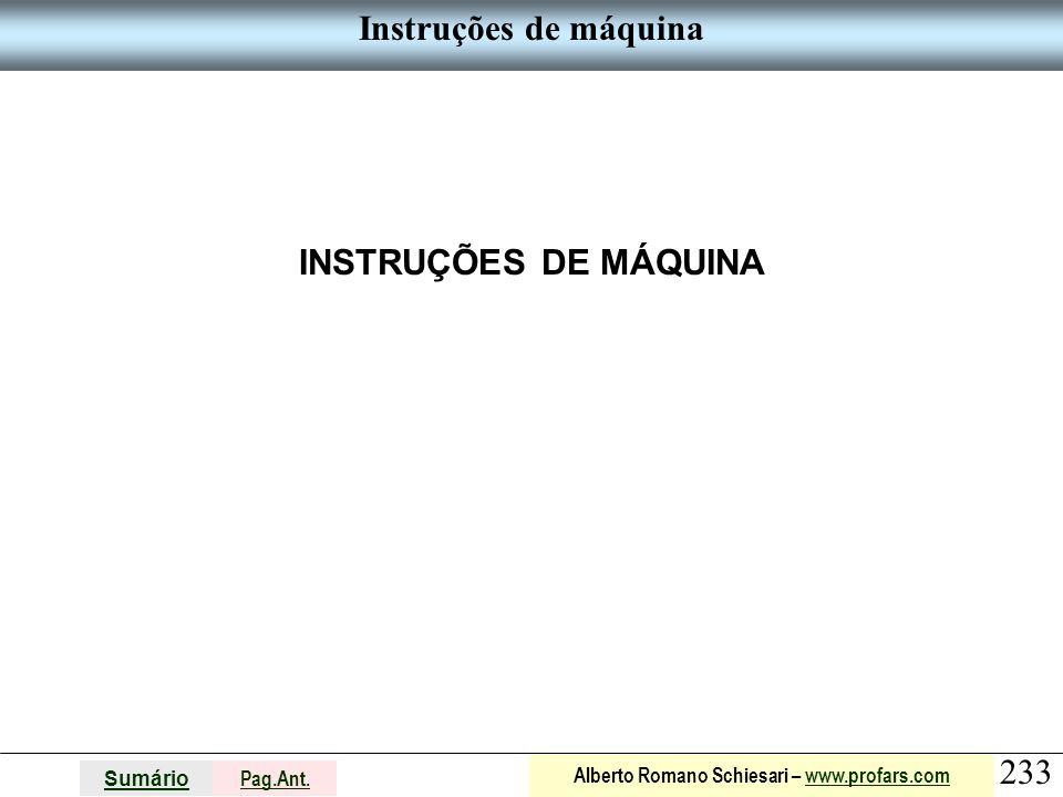 Instruções de máquina INSTRUÇÕES DE MÁQUINA
