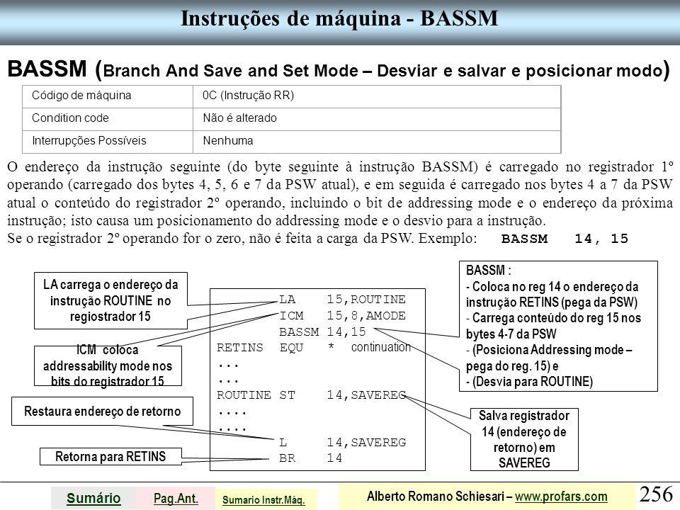 Instruções de máquina - BASSM