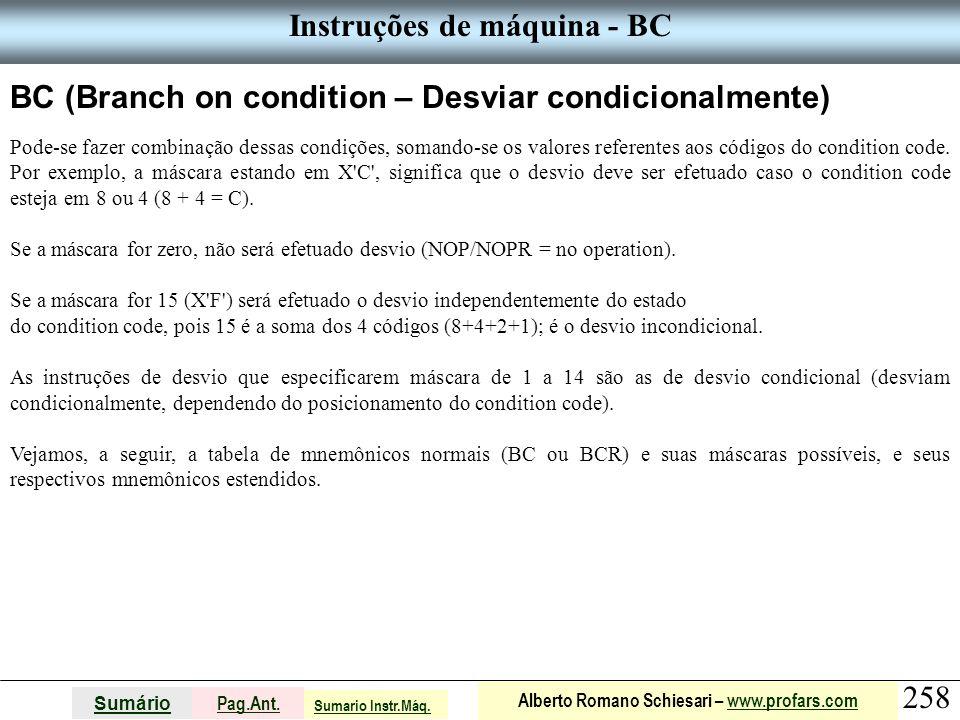 Instruções de máquina - BC