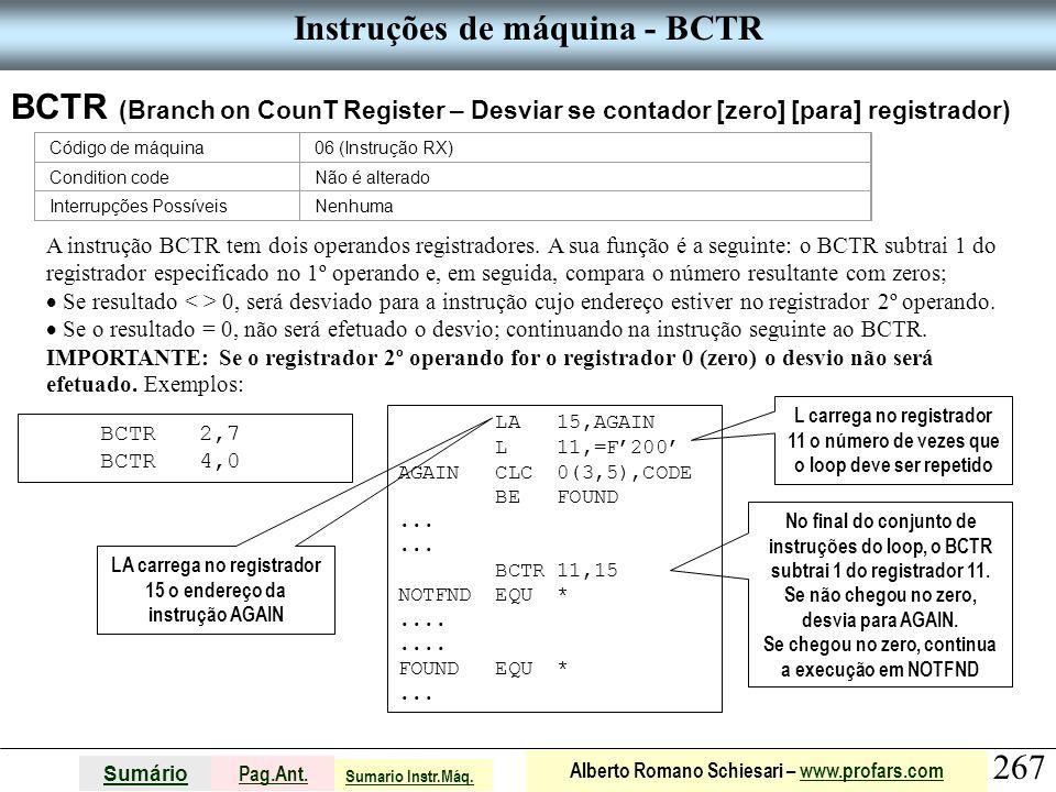 Instruções de máquina - BCTR