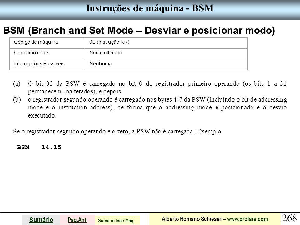 Instruções de máquina - BSM