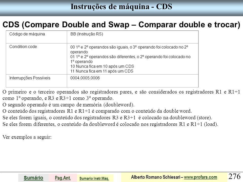 Instruções de máquina - CDS