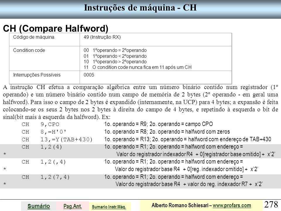 Instruções de máquina - CH