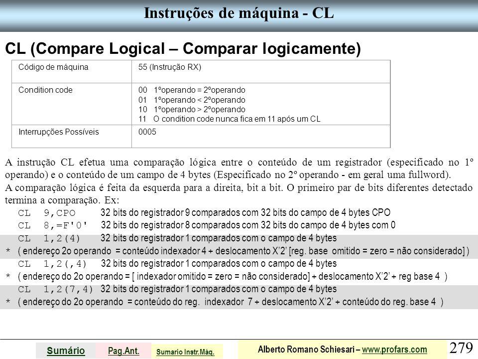 Instruções de máquina - CL