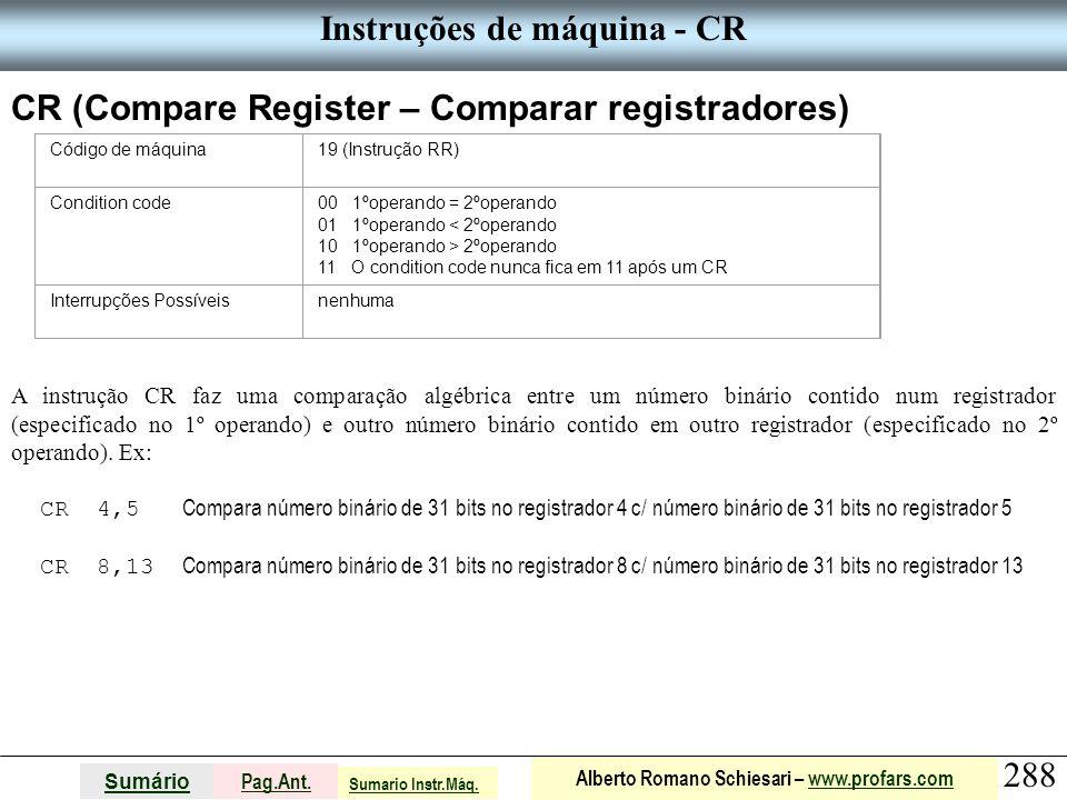 Instruções de máquina - CR
