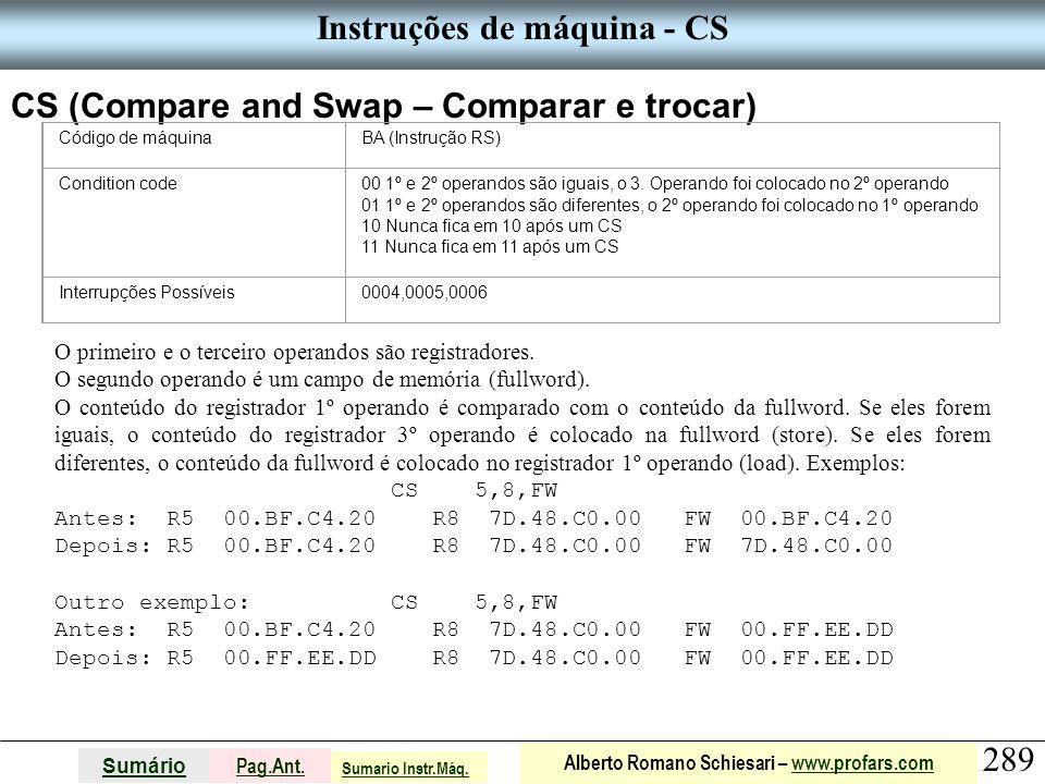 Instruções de máquina - CS