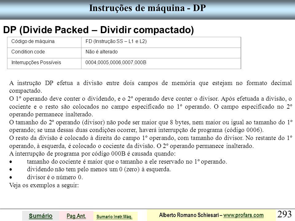 Instruções de máquina - DP