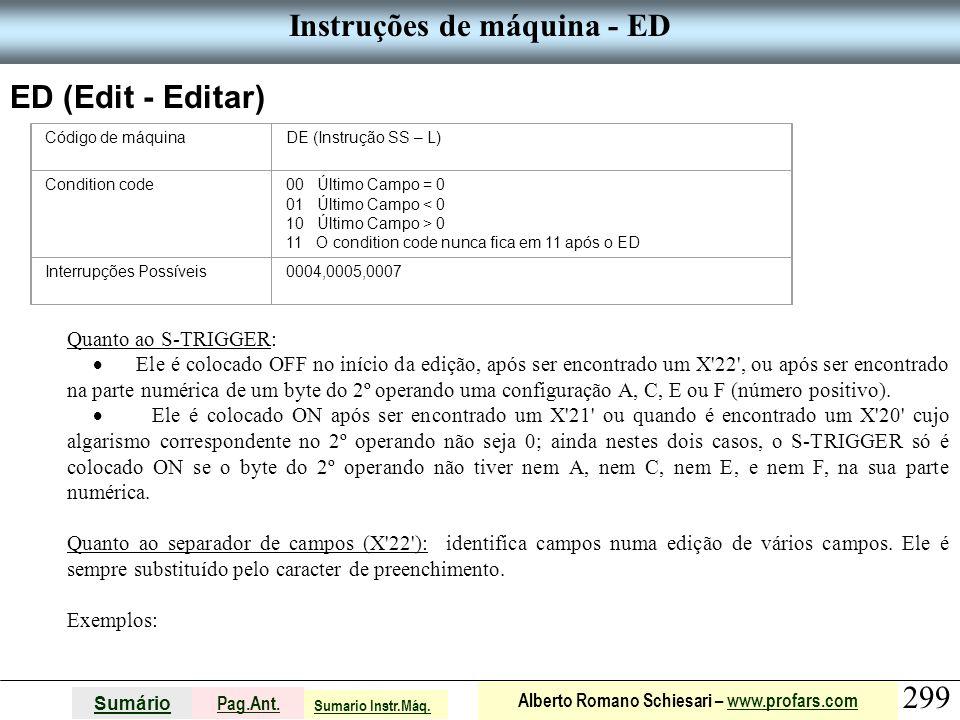 Instruções de máquina - ED