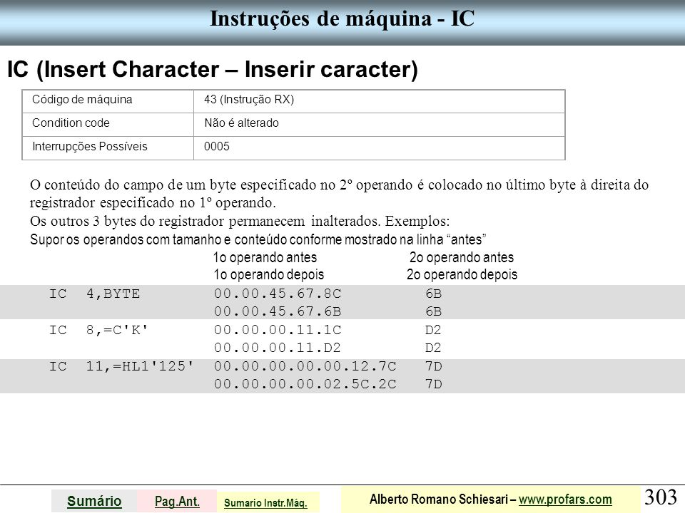 Instruções de máquina - IC